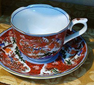 赤濃桜コーヒー碗皿