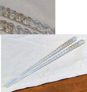 手作りガラス取り箸