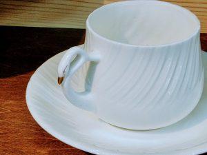 スワンコーヒー碗皿