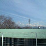 朝から長大地震雲