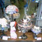 ステンドグラスのランプ各種