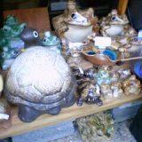 信楽焼の亀と蛙各種