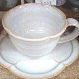 萩焼花型碗皿