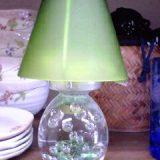 ガラスのキャンドルライト グリーン