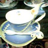 熱帯魚のコーヒー碗皿
