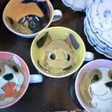 有田焼手描きの犬のマグカップ