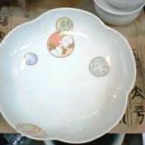 深川製磁 寿赤絵梅型6号鉢