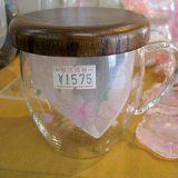 桜花 茶漉しつき耐熱ガラスマグ