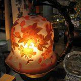 ガレ風ガラスシェードテーブルランプ「桜」