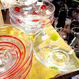 涼しげなガラスの平碗