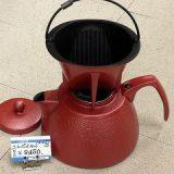 南部鉄器のコーヒーポットとドリッパーのセット