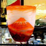 富士の夕焼けグラス