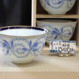 香蘭社 蘭と小花 煎茶碗揃