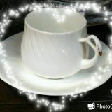 スワンのコーヒー碗皿