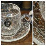 ガラスのコーヒー碗皿