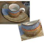 鹿の子コーヒー碗皿