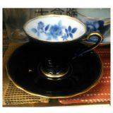 香蘭社 サムシングブルーペア碗皿
