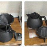 南部鉄製 ドリッパーコーヒーポットセット